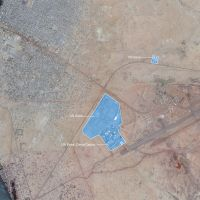 Aerial photo of Gao, Mali, met UN Bases